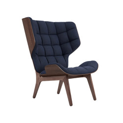 Mammoth Chair, Dark Stained / Wool: Navyblue | Armchairs | NORR11