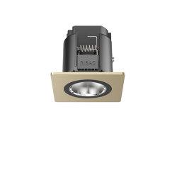 SPARK Downlight 800 with quadratic rim champagne anodised | Lampade soffitto incasso | RIBAG