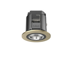 SPARK Downlight 800 with round rim champagne anodised | Lampade soffitto incasso | RIBAG