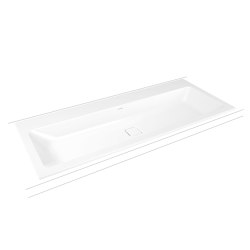 Cono built-in double washbasin alpine white matt | Lavabos | Kaldewei