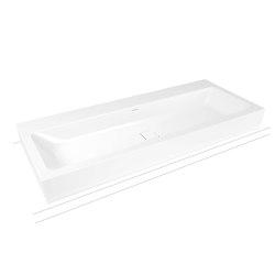 Cono countertop double washbasin alpine white | Wash basins | Kaldewei
