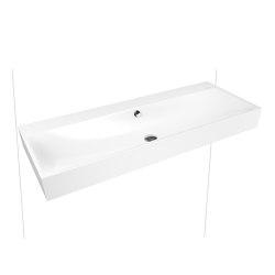 Silenio wall-hung double washbasin alpine white matt | Wash basins | Kaldewei
