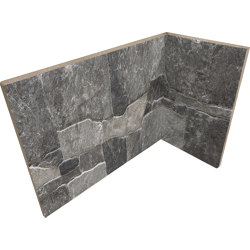 Lyon 3D Dark | Angolo Interno Incollato | Ceramic tiles | Rondine