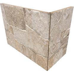 Lyon 3D Sand | Angolo Esterno Incollato | Carrelage céramique | Rondine