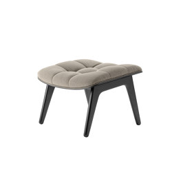 Mammoth Ottoman, Black / Canvas Washed Beige | Poufs | NORR11