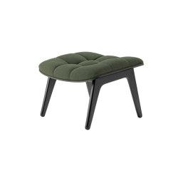 Mammoth Ottoman, Black / Wool: Forest Green | Poufs | NORR11