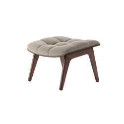 Mammoth Ottoman, Dark Stained  / Canvas Washed Beige | Poufs | NORR11