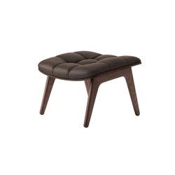 Mammoth Ottoman, Dark Stained  / Vintage Leather Dark Brown   Poufs   NORR11