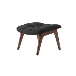 Mammoth Ottoman, Dark Stained  / Wool: Coalgrey | Poufs | NORR11