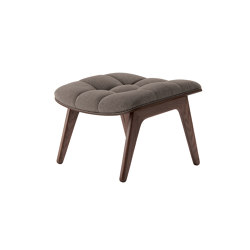 Mammoth Ottoman, Dark Stained  / Wool: Fawn | Poufs | NORR11