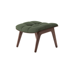 Mammoth Ottoman, Dark Stained  / Wool: Forest Green | Poufs | NORR11