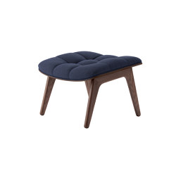 Mammoth Ottoman, Dark Stained  / Wool: Navyblue | Poufs | NORR11