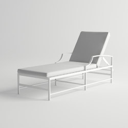Agosto Sunlounger With Cushion | Sun loungers | 10DEKA