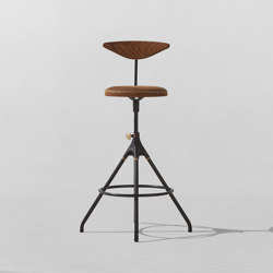 Akron Counter Stool With Backrest | Bar stools | District Eight