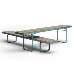 Forum bench & table | Tables and benches | Vestre