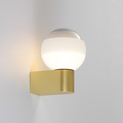 Dipping Light A1-13 Off White-Brushed Brass | Lampade parete | Marset