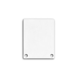PN4 series   End cap E45 Alu white RAL9010      Galaxy Profiles