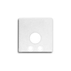 PN8 series | End cap E59W aluminium white RAL9010 |  | Galaxy Profiles