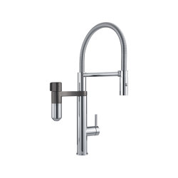 Vital 2in1 Water Fitration Tap Semi Pro U Spout Chrome-Gun Metal | Kitchen taps | Franke Kitchen Systems