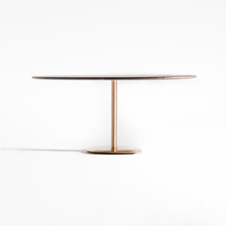 The bronze oval pillar table | Tavoli pranzo | Time & Style