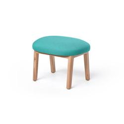 Dost Footstool Wood Lightgreen | Pouf | PUIK