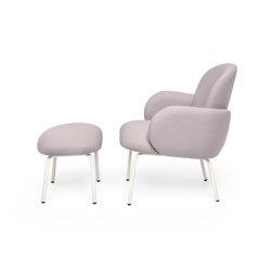 Dost Lounge + Footstool Steel Darkgrey Lilac Grey | Sessel | PUIK