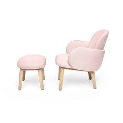 Dost Lounge + Footstool Wood Darkgrey Pink | Sillones | PUIK