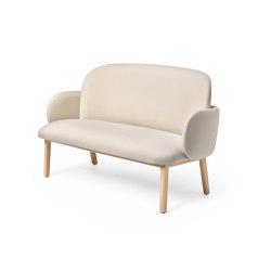 Dost Sofa Wood Ivory | Sofas | PUIK