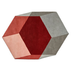 Iso Hexagon Red | Rugs | PUIK