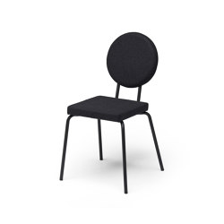 Option Chair Black Square Seat Round Back | Stühle | PUIK