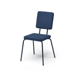 Option Chair Darkblue Square Seat Square Back | Chairs | PUIK