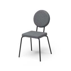 Option Chair Grey Square Seat Round Back | Chairs | PUIK