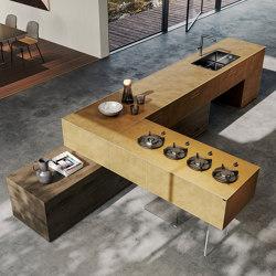 36e8 Metal XGlass Kitchen - 1086 | Island kitchens | LAGO
