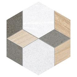 Seine | Hexágono Mayeix Multicolo | Keramik Fliesen | VIVES Cerámica