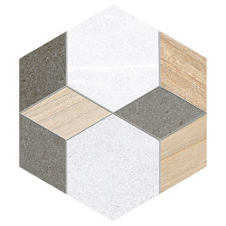 Seine | Hexágono Mayeix Multicolo | Carrelage céramique | VIVES Cerámica