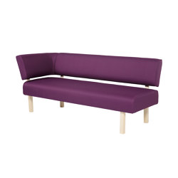Lean 2-seater with back and right armrest | Benches | VAD AS