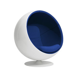 Ball chair, upholstery: Hallingdal 65 Blue 750 | Sessel | Eero Aarnio Originals