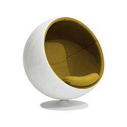 Ball chair, upholstery: Kvadrat Tonus 4 Yellow 424 | Sessel | Eero Aarnio Originals