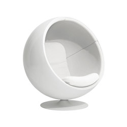 Ball chair, upholstery: Kvadrat Hallingdal 65 White 100 | Sessel | Eero Aarnio Originals