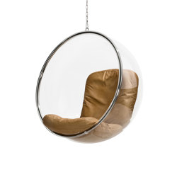 Bubble, natural colour leather cushions | Schaukeln | Eero Aarnio Originals