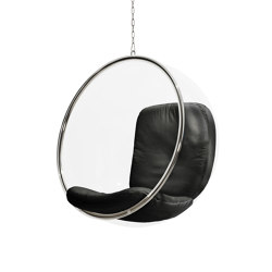 Bubble, black leather cushions | Schaukeln | Eero Aarnio Originals