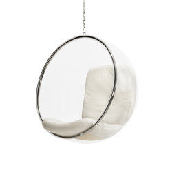Bubble, white leather cushions | Columpios | Eero Aarnio Originals