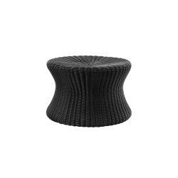 Mushroom stool large, poly-rattan black   Beistelltische   Eero Aarnio Originals