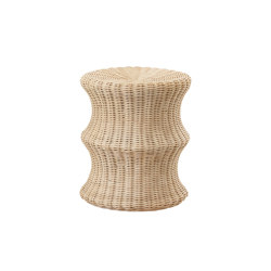 Mushroom stool double, Rattan natural | Beistelltische | Eero Aarnio Originals
