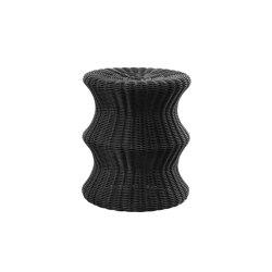 Mushroom stool double, poly-rattan black | Beistelltische | Eero Aarnio Originals