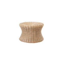 Mushroom stool small, Rattan natural | Beistelltische | Eero Aarnio Originals