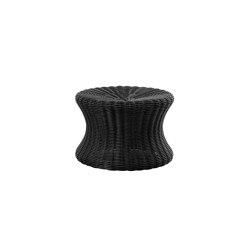 Mushroom stool small, poly-rattan black | Beistelltische | Eero Aarnio Originals