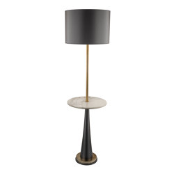 I-Conic | Vintage Floor lamp with table | Free-standing lights | Il Bronzetto - Brass Brothers & Co