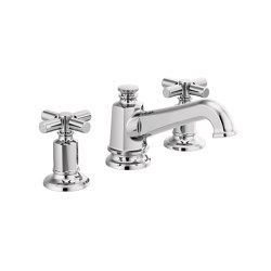 Widespread with Angled Spout and Cross Handles | Wash basin taps | Brizo