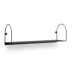 Bow Shelf Medium Black | Shelving | Swedish Ninja